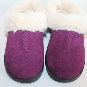 Dearfoams Genuine Authentic Suede Clog Slippers